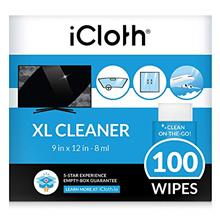 iCloth Extra Large Monitor and TV Screen Cleaner Pro-Grade Individually Wrappe