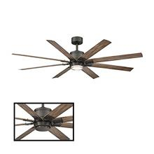 Renegade 52 in. 8 Blade Oil Rubbed Bronze Barn Wood Smart Ceiling Fan with 300