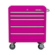 "The Original Pink Box PB3005R 30 "" 5-Drawer Steel Rolling Cabinet, Premiu"