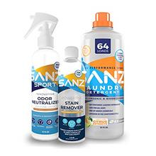 SANZ Sport Bundle, Remove Odors and Stains with SANZ Detergent, SANZ Stain Rem