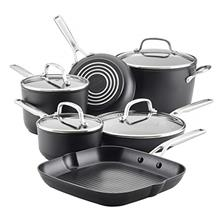 KitchenAid Hard Anodized Induction Nonstick Cookware Pots and Pans Set, 10 Pie