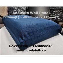 Blue Acoustic Wall Panel Echo Reduce Sound Proof Panel