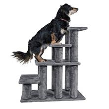Furhaven Pet - Steady Paws Furniture Assist Multi-Step Dog Stairs for High Bed