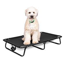 BIRDROCK HOME Elevated Dog Bed Cot - Steel Frame - Folding Pet Furniture - Lig