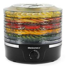 Elite Gourmet Food Dehydrator, 5 BPA-Free Stackable Trays for Jerky Herbs Frui