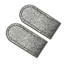 PINMEI Golf Hat Clip,2 Sets of PU Golf Hat Clip for Women (2pcs Grey Clip)/fro