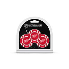 Team Golf NHL Golf Chip Ball Markers (3 Count), Poker Chip Size with Pop Out S