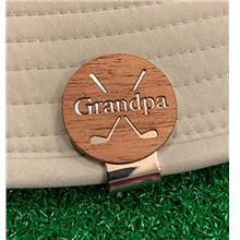 The Quintessential Hostess Grandpa Engraved Golf Hat Clip and Ball Marker Maho