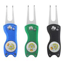 NicePro 9PCS Golf Divot Repair Tool - Metal Switchblade with Detachable Ball M