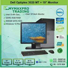Dell Optiplex 3020 MT i3 4th Gen 4GB 500GB HDD + 19' Monitor W10P