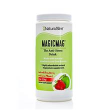 NaturalSlim Anti Stress Drink - Pure Magnesium Citrate Powder with Organic Str