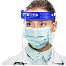 【US Stock,10 pack】Simsii Face Shields, Reusable Clear double side Anti-fog