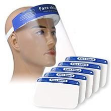 PLESON 5PCS Face Shield Full Face Protect Eyes and Face Plastic Face Shield wi