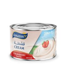 Amazon Cream with Strawberry 150g \u0642\u0634\u0637\u0629 \u0623\u0645\u0627\
