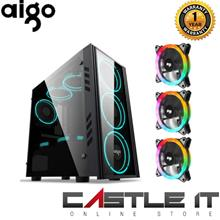 AIGO Dark Flash BLACK TECH MINI MATX GAMING CASING With 3 X RGB FAN or Aigo GP