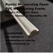 PVC Point 16mm PVC Wainscoting Plastic Wainscoting Panel PVC Frame