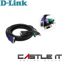 D-LINK KVM-403 5M PS/2 + USB COMBO DKVM CABLE