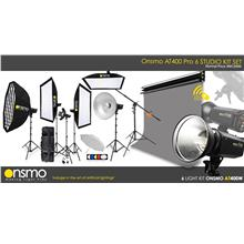 Pro Studio Setup Package (Onsmo AT400W x 6 Lights Kit) Electric Backdr