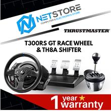 THRUSTMASTER BUNDLE T300 RS GT EDITION RACING WHEEL & Th8A SHIFTER