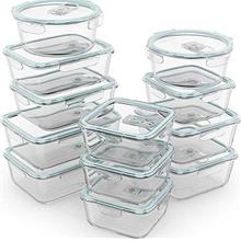 Razab 24 Pc Glass Food Storage Containers Airtight Lids Microwave/Oven/Freezer