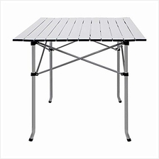 Deanurs Folding Table Camping Roll Up Portable Iron Legs Frame Compact Aluminu
