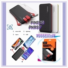 [Y Two Mobile] Powerbank Pineng PN957 10000mAh with Built In Cable