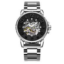 OCHSTIN 62004B Automatic Mechanical Men's Watch ( Silver Black )