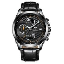 CADISEN 9018G Fashion Leather Strip Men's Watch (Black)