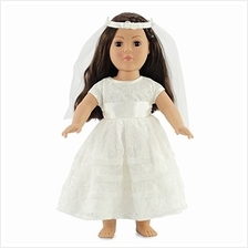 Emily Rose 18 Inch Doll Bridal Gown | Doll 18 First Communion Dress / Doll 18