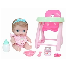 "JC Toys Lil' Cutesies 9.5 "" All Vinyl Washable Doll High Chair Gift Set ("