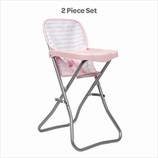 Adora Baby Doll Accessories Pink High Chair, Can Fit Up to 16 inch Dolls, 20.5