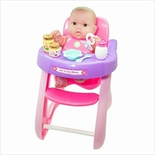 JC Toys, Lots to Love Babies 14 inches Baby Doll with High Chair and Accessori