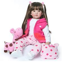 24 inch Beautiful Reborn Toddlers Dolls Princess Girl with Long Hair Real Life