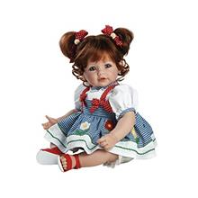 Adora Toddler Doll Daisy Delight with hand-sewn Gingham Dress and red summer s