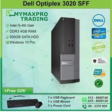 Dell Optiplex 3020 SFF Intel i5-4th Gen 4GB RAM 500GB HDD Win10Pro