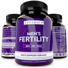 Zanapure - Plant Based Men's Fertility Supplements for Optimal Sperm Count, Te