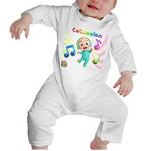 TILLIEE Cocomelon Boys/Girls Baby Shirts Cotton Long Sleeve Romper Warm Bodysu