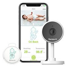 Sense-U Video+Breathing Baby Monitor with 1080P HD Camera, 2.4G WiFi, 2-Way Au