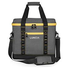 LUNCIA Collapsible Large Cooler Bag, 60-Can Sand-Free Insulated Leakproof Soft