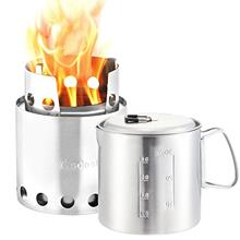 Solo Stove & Pot 900 Combo: Ultralight Wood Burning Backpacking Cook System.