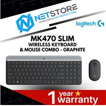 LOGITECH MK470 SLIM WIRELESS KEYBOARD AND MOUSE COMBO - GRAPHITE