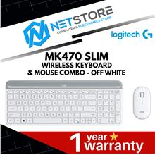LOGITECH MK470 SLIM WIRELESS KEYBOARD AND MOUSE COMBO - OFF WHITE