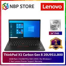 Lenovo ThinkPad X1 Carbon Gen 8 20U9S1LB00 14'' FHD Touch Laptop
