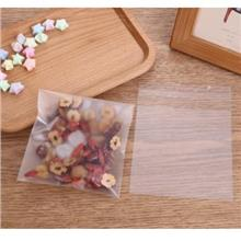 Ready Stock Matte self-adhesive transparent cookie biscuit Plastic Bag