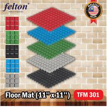 FELTON TFM301 Floor Mat Anti Slip Rubber Bathroom Accesories 6in1
