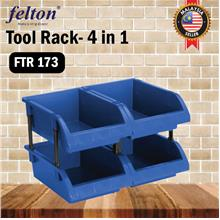 Felton FTR 173 Tool Rack Storage Plastic 4 in 1