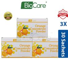 3x Biocare Orange Concentrate Powder 30's x 2g (Vitamin C)