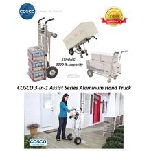 Cosco 3-in-1 Assist Series Aluminum Convertible Hand Truck (1000lbs)