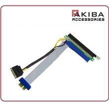 PCIe Express x1 to x16 Flex Cable Riser Extension with SATA 15p Power