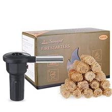 SamnFat Fire Starters 50PSC Tumbleweed for Campfires,Fireplace,BBQ,Wood Stove,